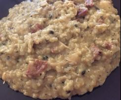 Risotto poulet chorizo et champignons
