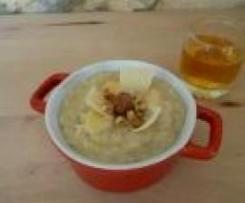 Risotto au cidre et aux pommes