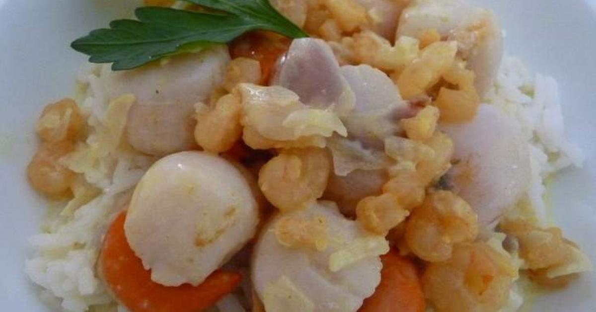 Noix de st jacques la cr me de curry par cuisinerpassion une recette de fan retrouver dans - Noix de saint jacques curry ...