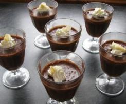 Mousse au chocolat noir pommes cannelle