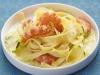 Pâtes sauce courgette et gambas au citron