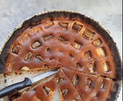 Variante tarte à la rhubarbe rapide