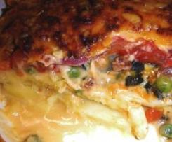 Lasagnes de légumes au bacon