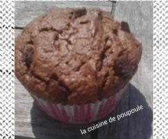 Muffins au chocolat noir et épices pour pain d'épice