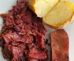 Chou rouge et son talon de jambon