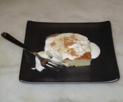 Flan sucré courgette/coco/cannelle avec sa crème coco