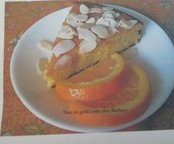 Gâteau ultra moelleux  à l'orange et amandes