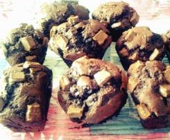 Muffins au chocolat et aux pépites