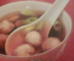 Soupe chinoise aux boulettes de crevettes de Tong De Jie