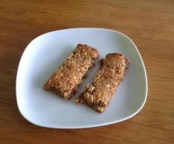 Variante de barres de céréales allégées sans gluten