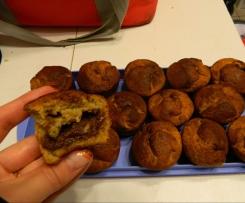muffins à la banane coeur nutella