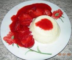 semoule moelleuse aux fraises et son coulis