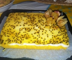 Gateau mangue vanille passion
