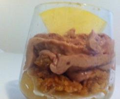 Verrine de foie gras, pomme, croustillant pain d'épices