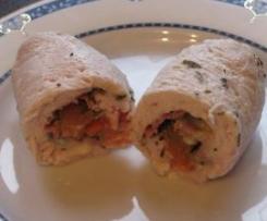 Roulé de volaille au bacon et gorgonzola