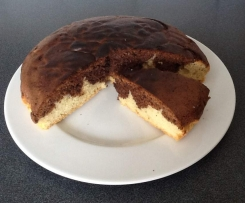 Gâteau chocolat-vanille express