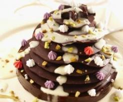 Spécial fêtes - Petits sapins de Noël en chocolat