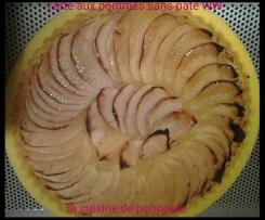 Tarte aux pommes sans pâte WW