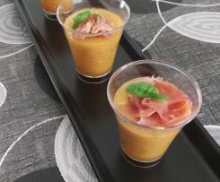 Verrines prosciutto melon express