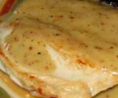 Escalope sauce moutarde et ses legumes