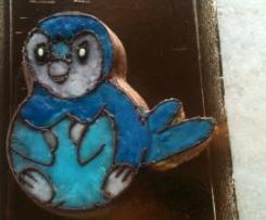 Gâteau d'anniversaire bleu avec Piplup