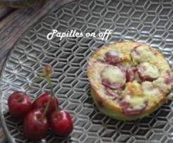 Mini clafoutis cerises et pâte de pistaches