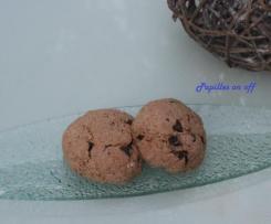 Cookies sans beurre à la banane, au muesli et chocolat