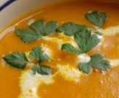 Velouté citrouille et carotte