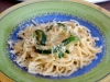 Spaghetti aux courgettes façon carbonara