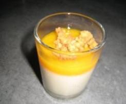 Panacotta à la vanille/mangue et son crumble au spéculoos