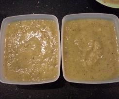 Compote ananas, kiwis et bananes pour bébé sans sucre ajouté