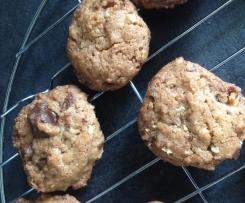 Cookies chocolat, amandes, noisettes croustillants