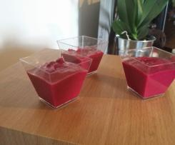 mousse betterave rouge noix de coco