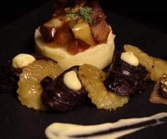 Boudin Noir aux pommes, Mousseline de pomme de terre
