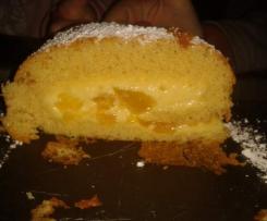 roulé aux abricots et à la crème pâtissière parfumée au kirch
