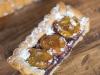 Tarte aux prunes , frangipane de myrtille et pâte sablée canelle