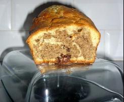 Cake marbré vanille et chocolat