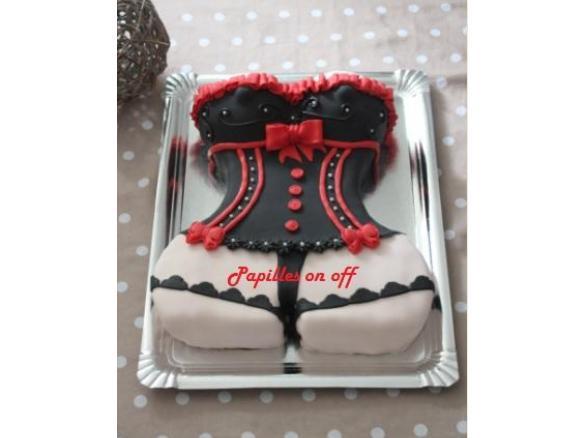 Gâteau Femme Sexy Gâteau Corset En Pâte à Sucre Anniversaire Homme 60 Ans