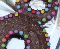 Gâteau d'anniversaire chocolat, nutella et smarties