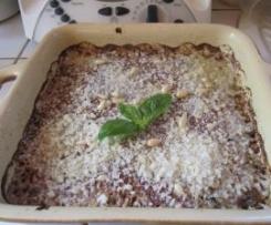 Crumble de courgettes au pesto et parmesan
