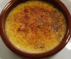 Crème brûlée classique sans farine