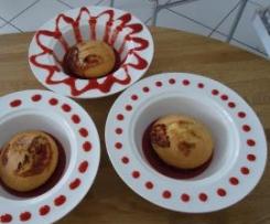 Cup cake au coulis de fraise