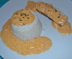 Filets de cabillaud sauce aurore