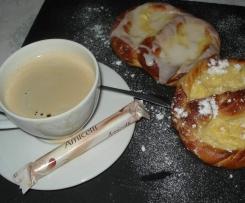 Lunettes à la crème pâtissière