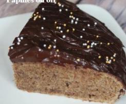 Gâteau aux noix, ganache au chocolat
