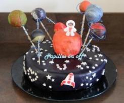 Gâteau espace et planètes