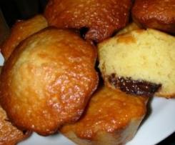 Petits cakes légers à l'orange au coeur chocolat
