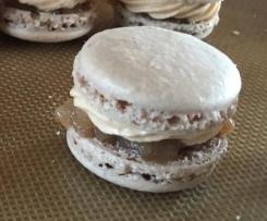 Macarons de fête (macaron pain d'épices,confit d'oignons et crème de foie gras)