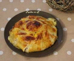 Camembert feuilleté au confit d'oignon
