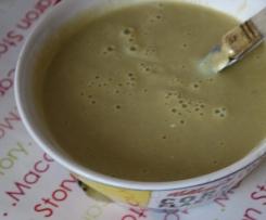 Soupe d'haricots vert au poivron